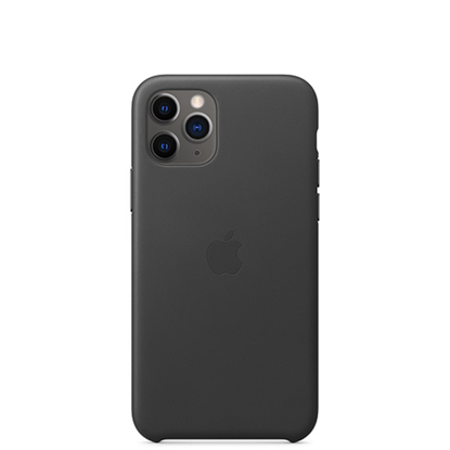 Picture of iPhone 11 Pro Leather Case Black